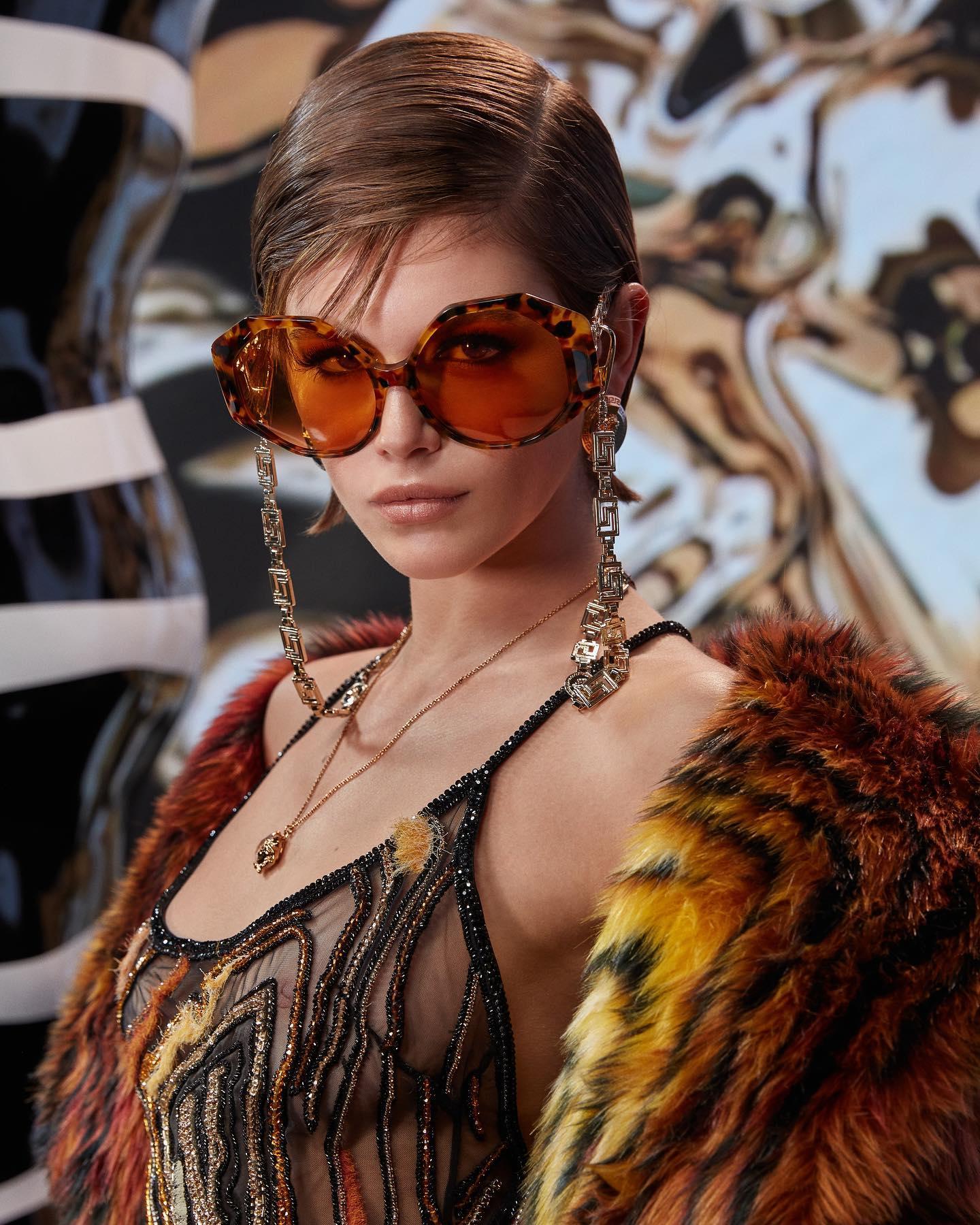 Kaia Gerber Nipples See Through Versace