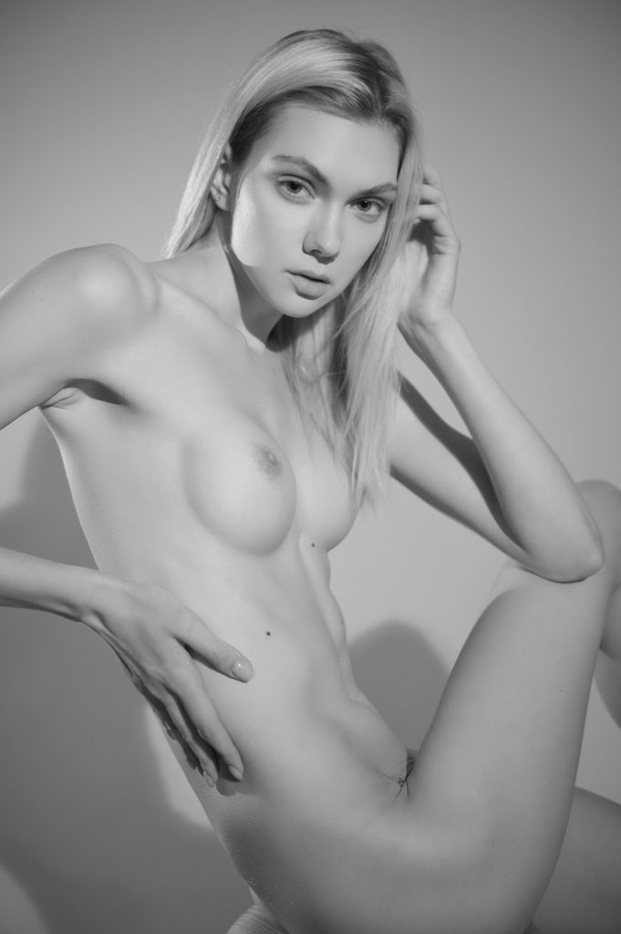 Kat Stratford B&W Nude!