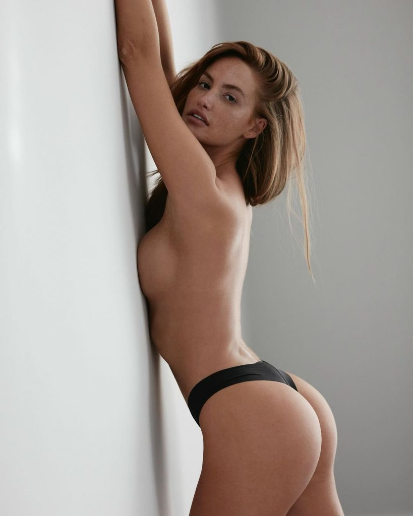 Haley Kalil Up Against The Wall!