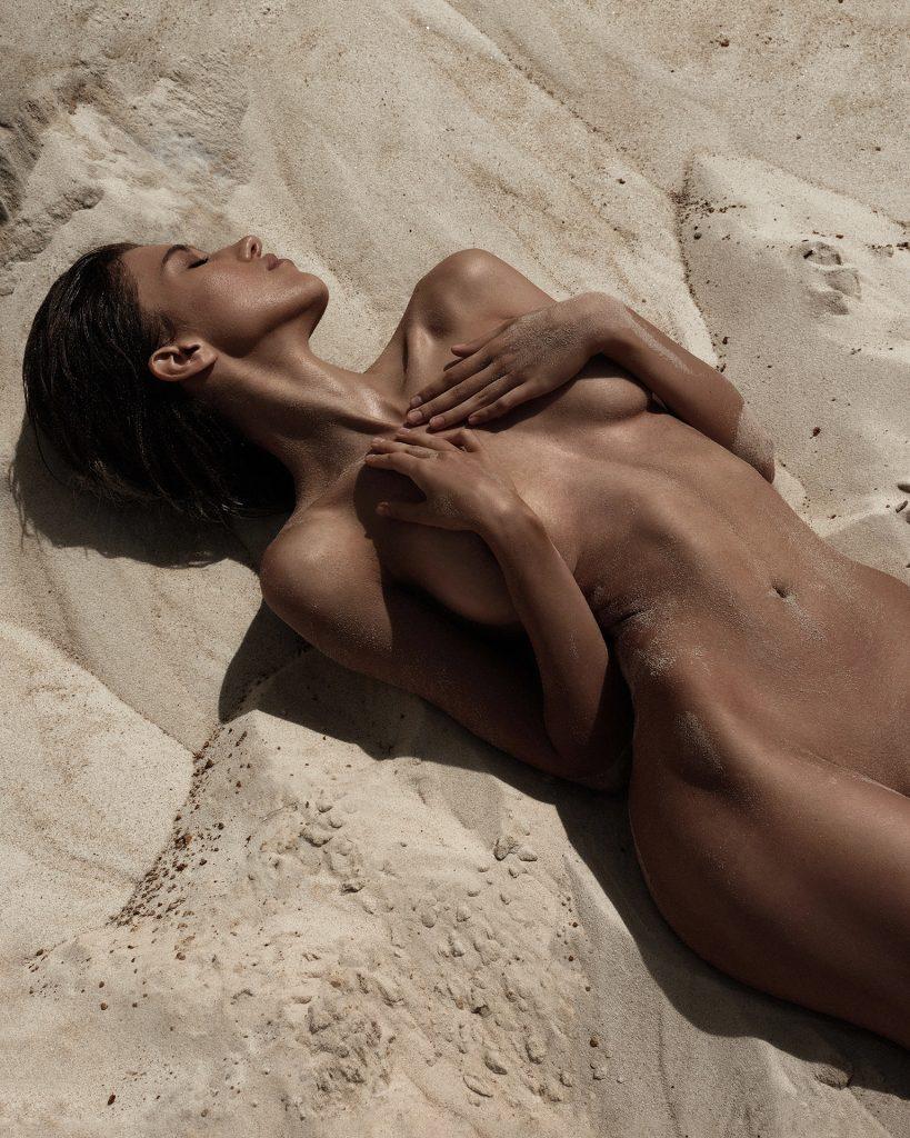 Victoria Perusheva Making Sand Castles!