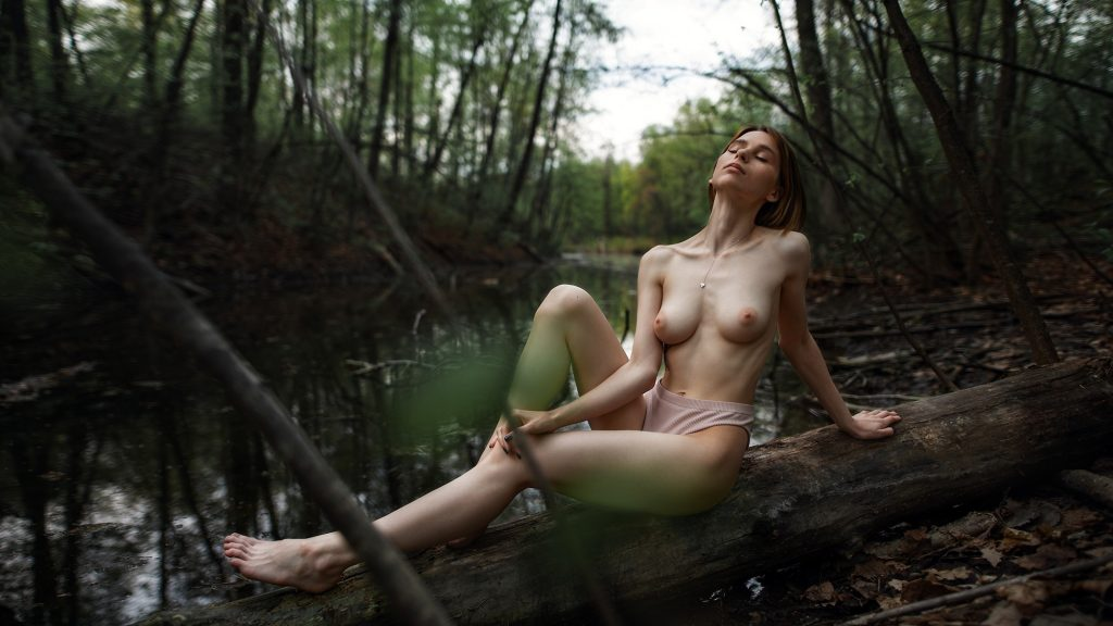 Kristina Nikitina Topless in Nature!