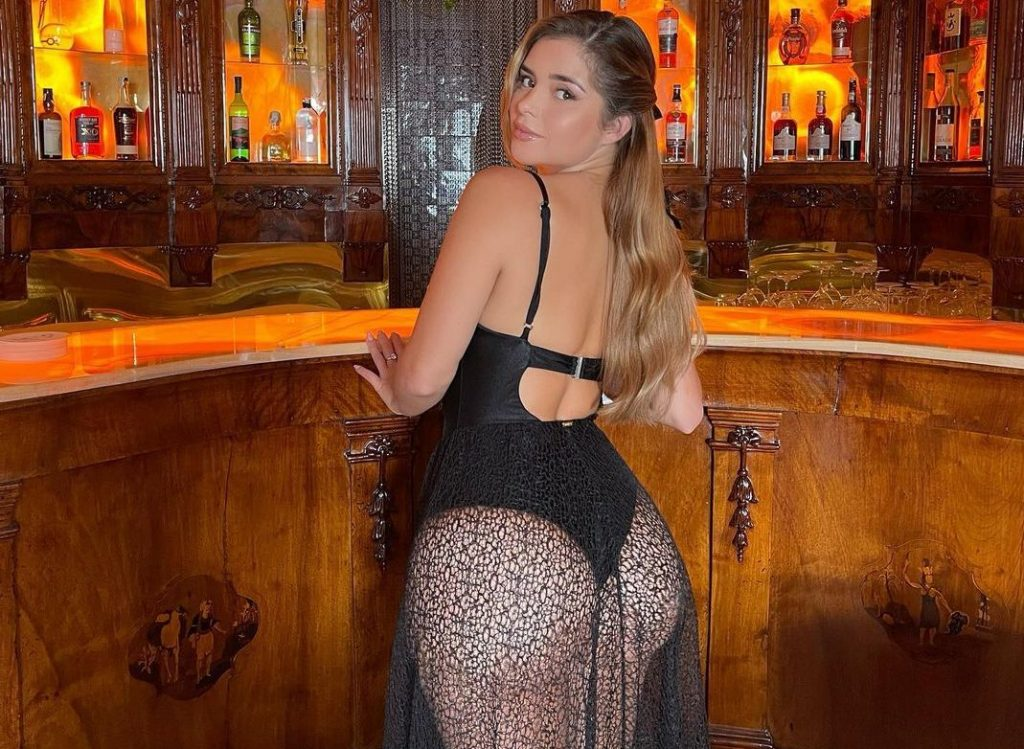 Demi Rose Exposed at The Bar!
