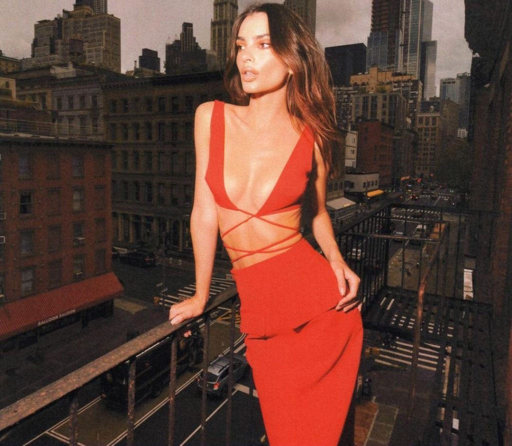 Emily Ratajkowski is The Lady in Red!