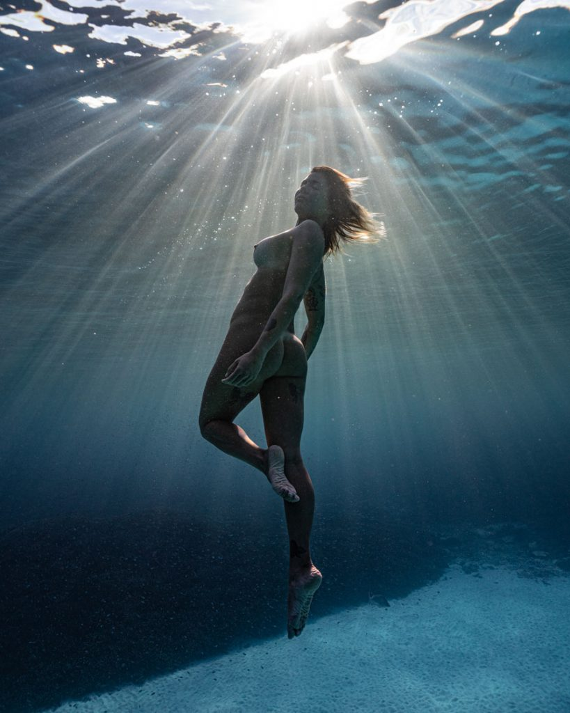 Luciana Free diving The Right Way!